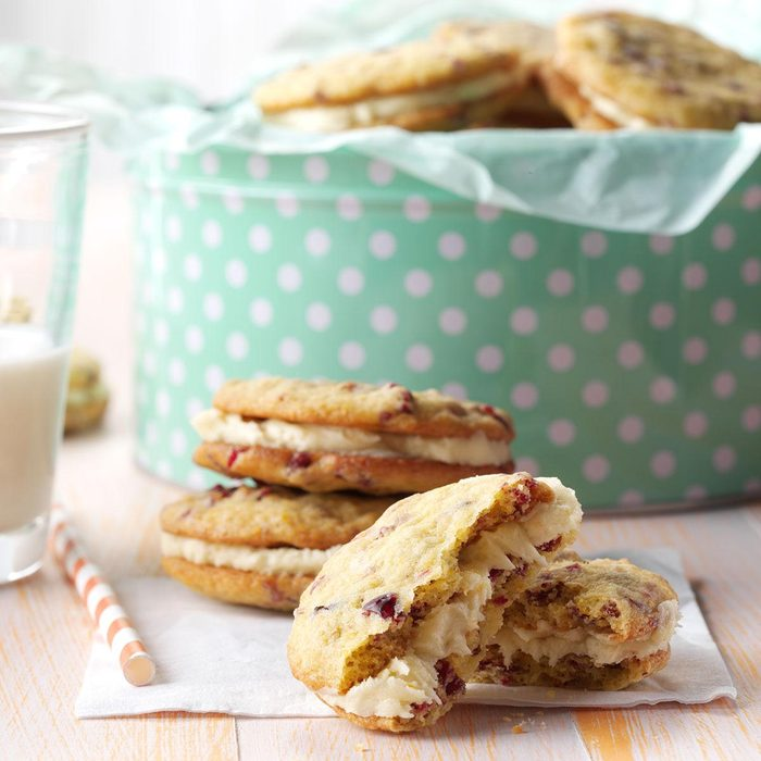 Cranberry Orange Sandwich Cookies