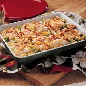 Baked Fish and Rice