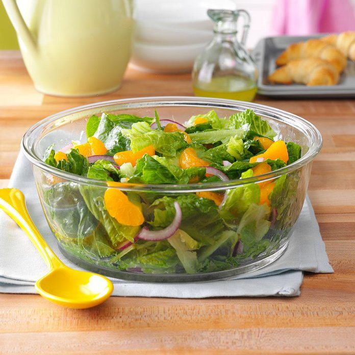 Romaine & Orange Salad with Lime Dressing