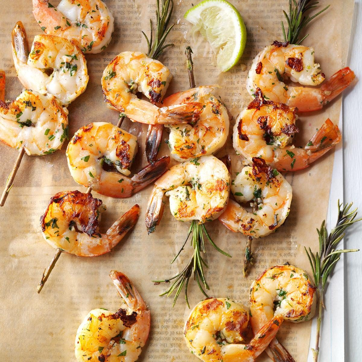 Lime-Rosemary Shrimp Skewers