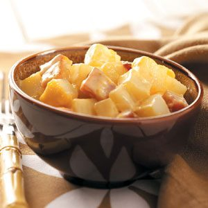 Au Gratin Potatoes and Ham