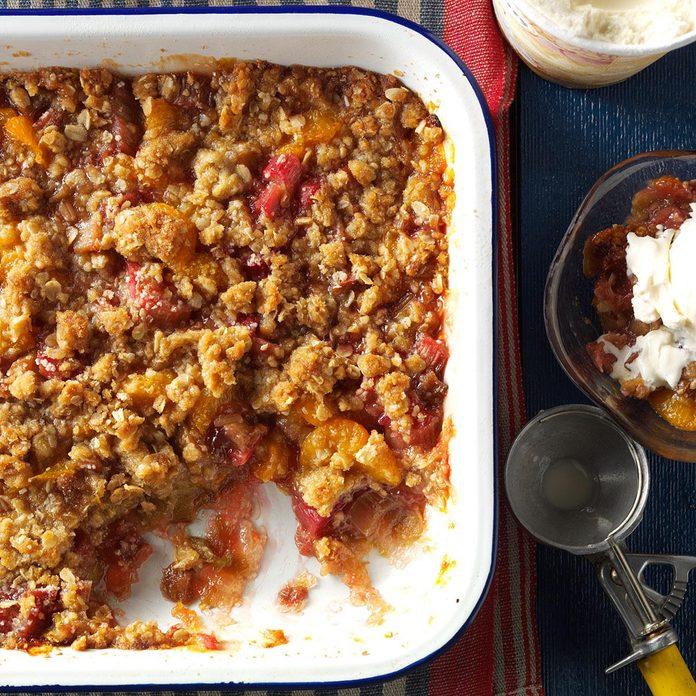 Rhubarb Mandarin Crisp