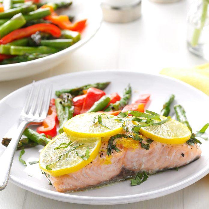 Lemon Salmon with Basil