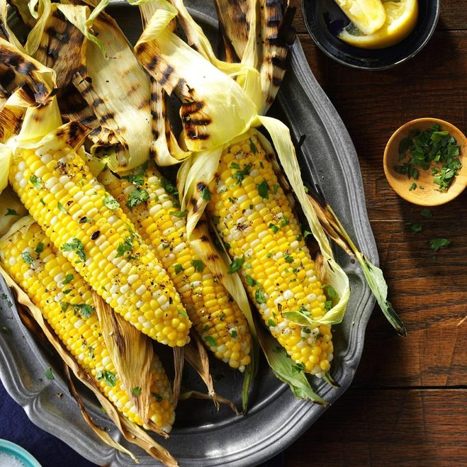 Basil Grilled Corn on the Cob