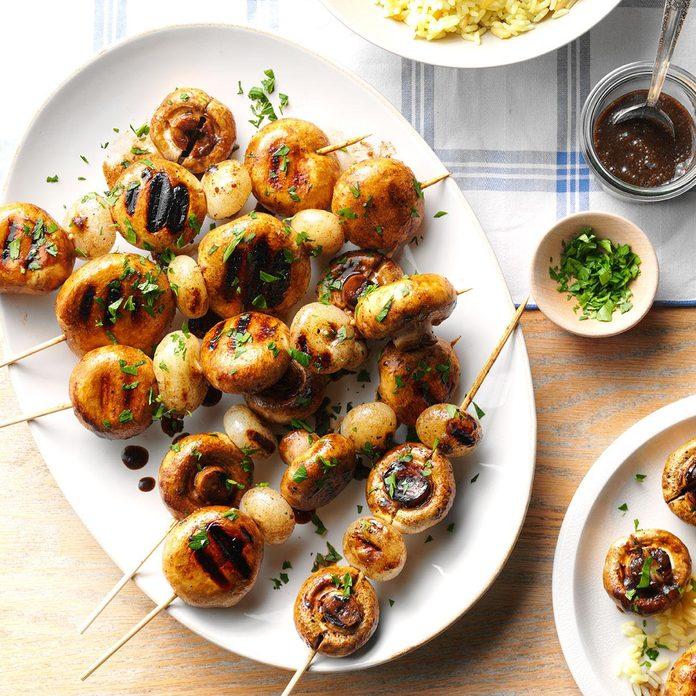 Grilled Mushroom Kabobs