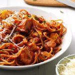 Italian Spaghetti with Chicken & Roasted Vegetables