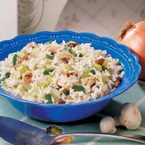 Celery Mushroom Rice Medley