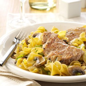 Pork Scallopini with Mushrooms