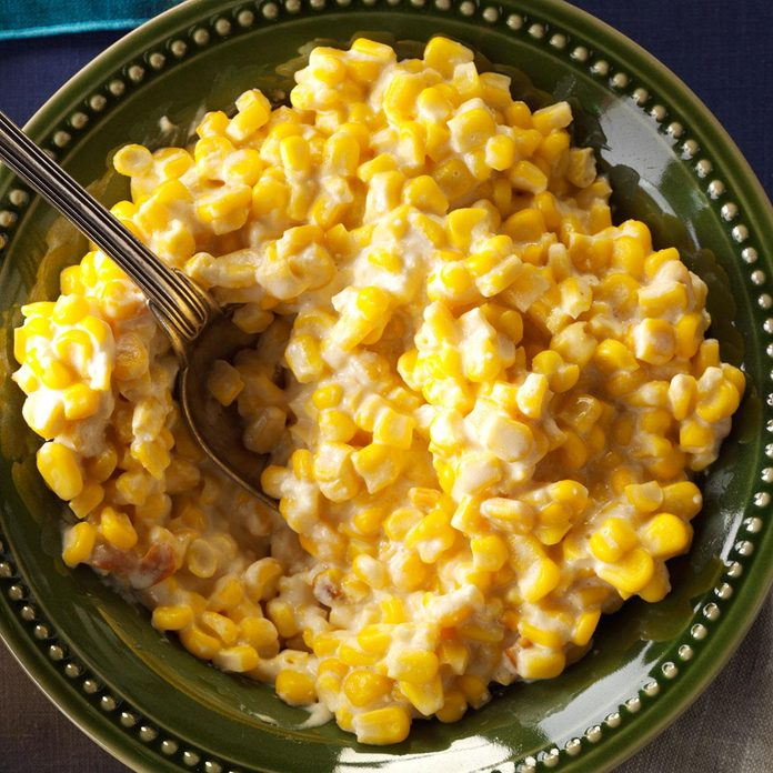 Cheesy Slow-Cooked Corn