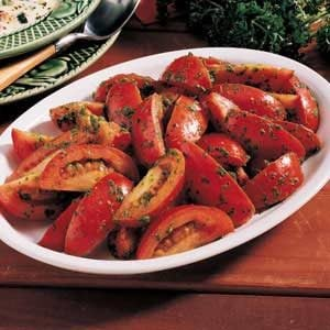 Tomatoes with Parsley Pesto