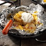 Cheese-Topped Potatoes in Foil