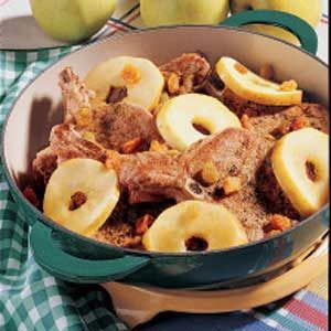 Pork Chops with Apple Rings