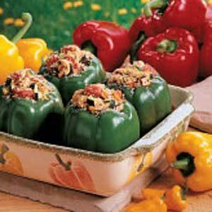 Chicken-Stuffed Green Peppers