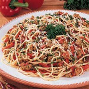 Spicy Sausage Spaghetti