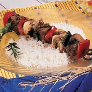Broiled Beef Kabobs