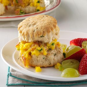 Prosciutto & Cheddar Breakfast Biscuits