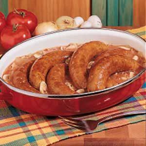 Saucy Bratwurst Supper