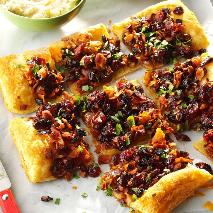 Cranberry Bacon Galette