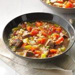 Comforting Beef Barley Soup