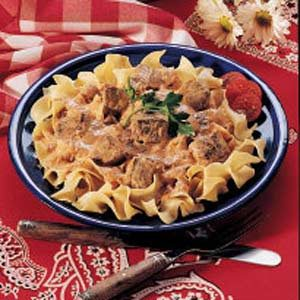 Tender Beef and Noodles