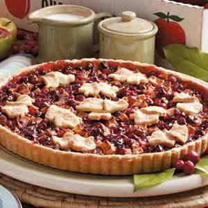 Quick Apple Cranberry Tart