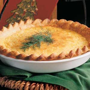 Curried Crab Quiche