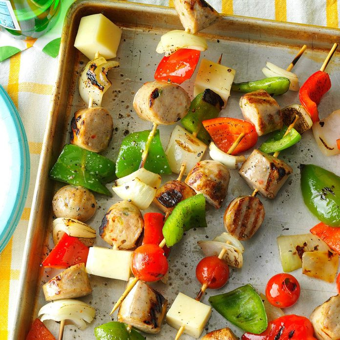 July 6: Italian Sausage and Provolone Skewers