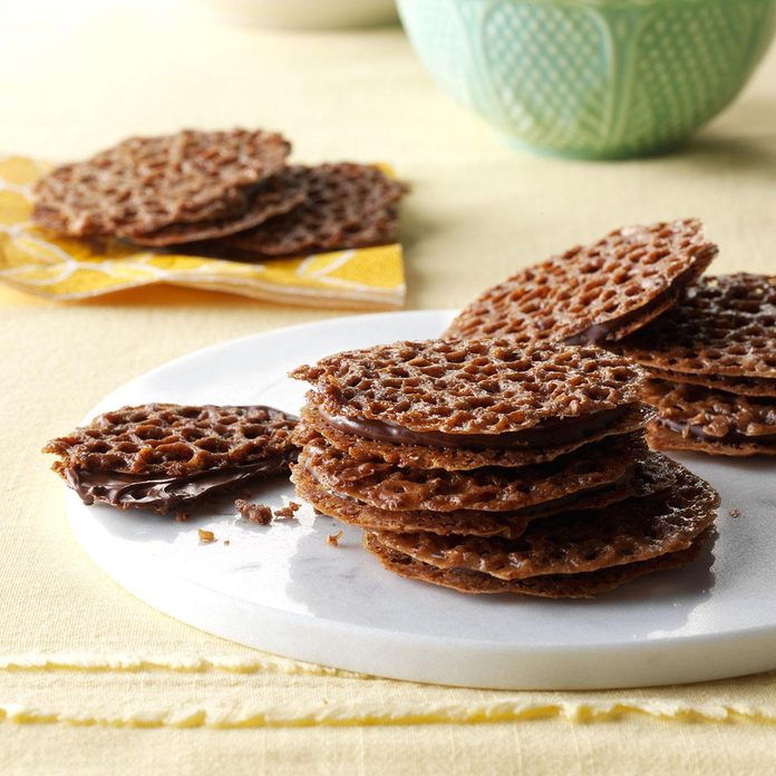 Chocolate Lace Cookies