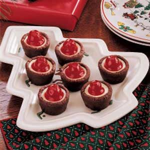 Tiny Cherry Cheesecakes