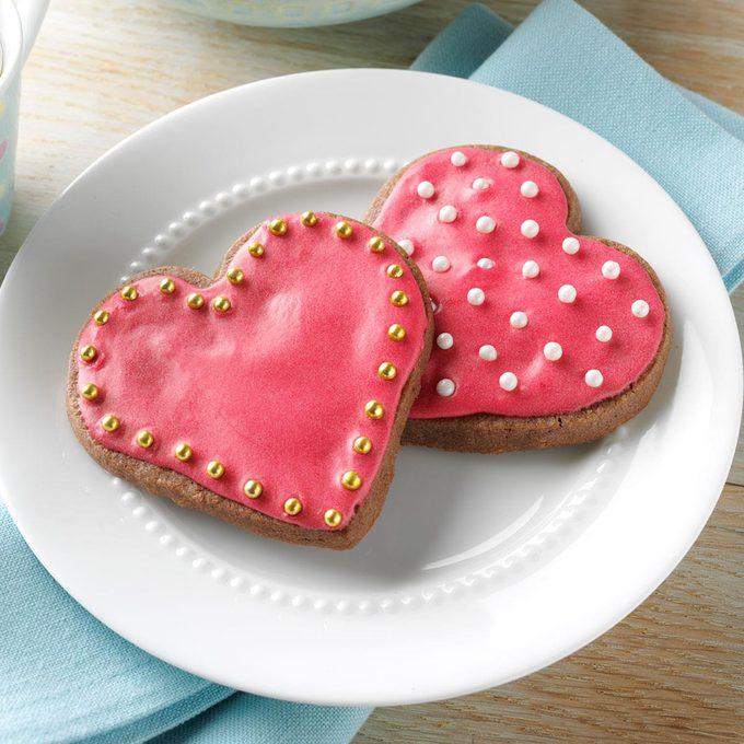 Chocolate-Raspberry Cutout Cookies