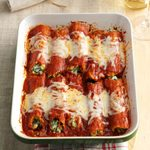 Make-Ahead Spinach Manicotti
