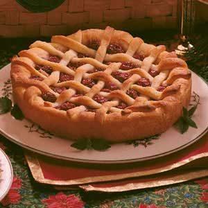 Cherry Lattice Coffee Cake