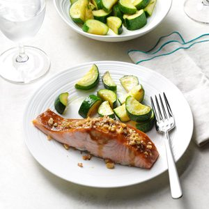 Walnut-Crusted Ginger Salmon