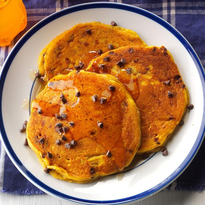 Pumpkin-Chocolate Chip Pancakes