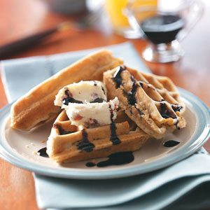 Portobello Waffles with Balsamic Syrup