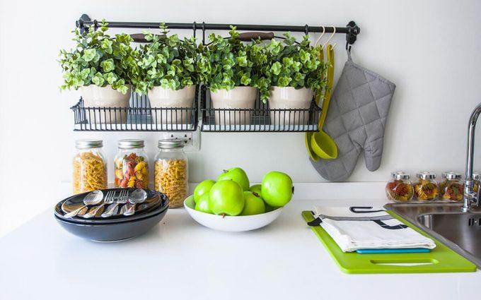 home; kitchen; clean; organzied;