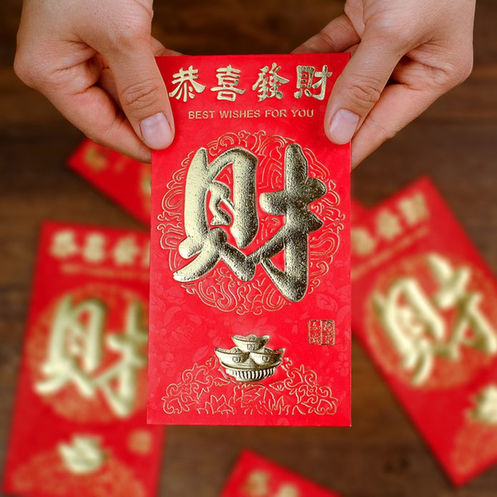 Chinese New Year red bag; Shutterstock ID 364455944