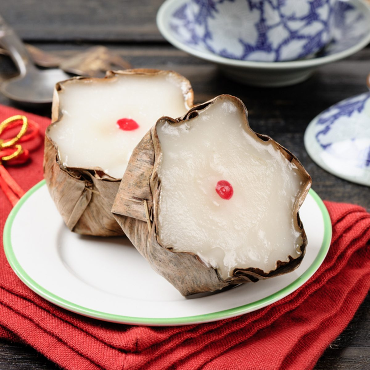 Nian Gao or Chinese new year's cake or year cake, Nian Gao is a food prepared from glutinous rice and consumed in Chinese cuisine.; Shutterstock ID 470810750