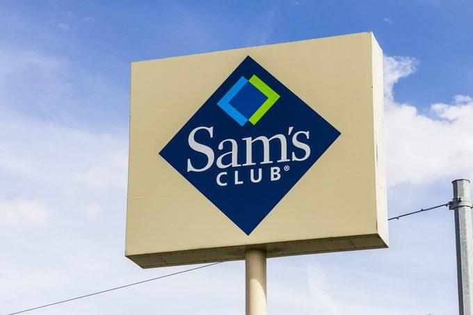 Sam's Club Warehouse Logo and Signage