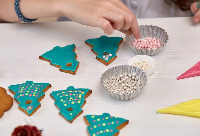 Christmas Treats. Handmade cookie; sprinkes; cupcake liners