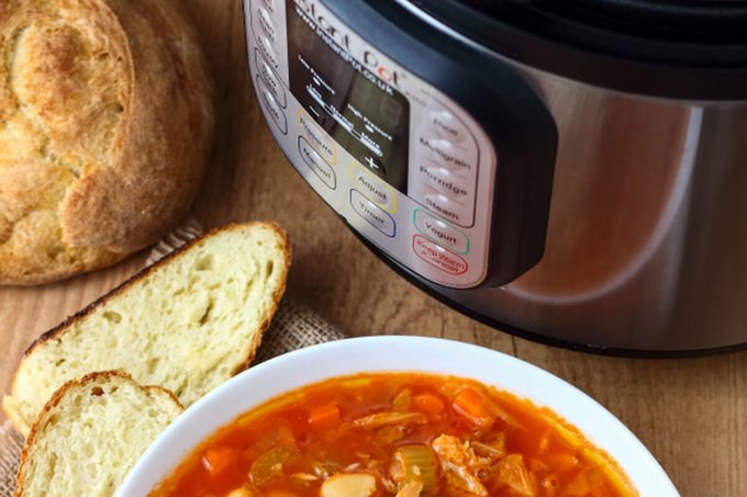 Minestrone Soup made in Instant Pot Pressure Cooker