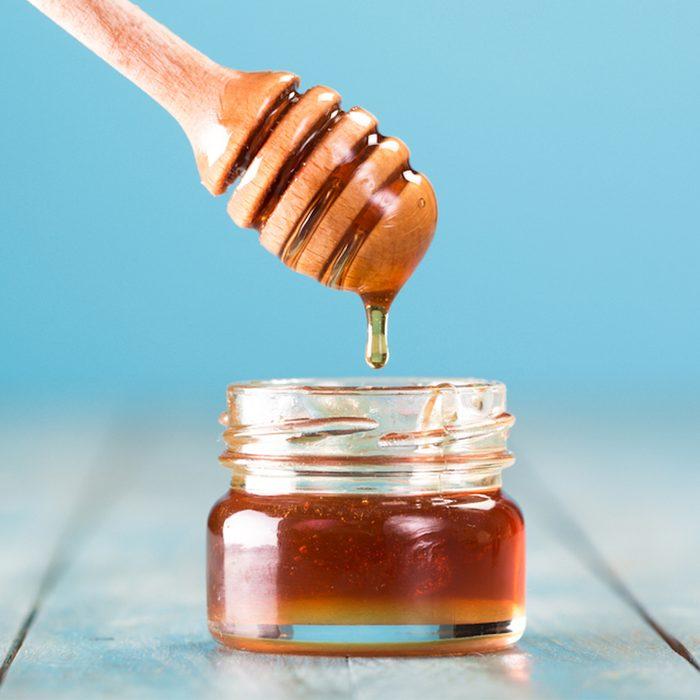 Honey in small jar
