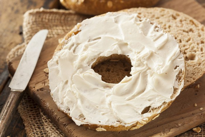 Healthy Organic Whole Grain Bagel with Cream Cheese