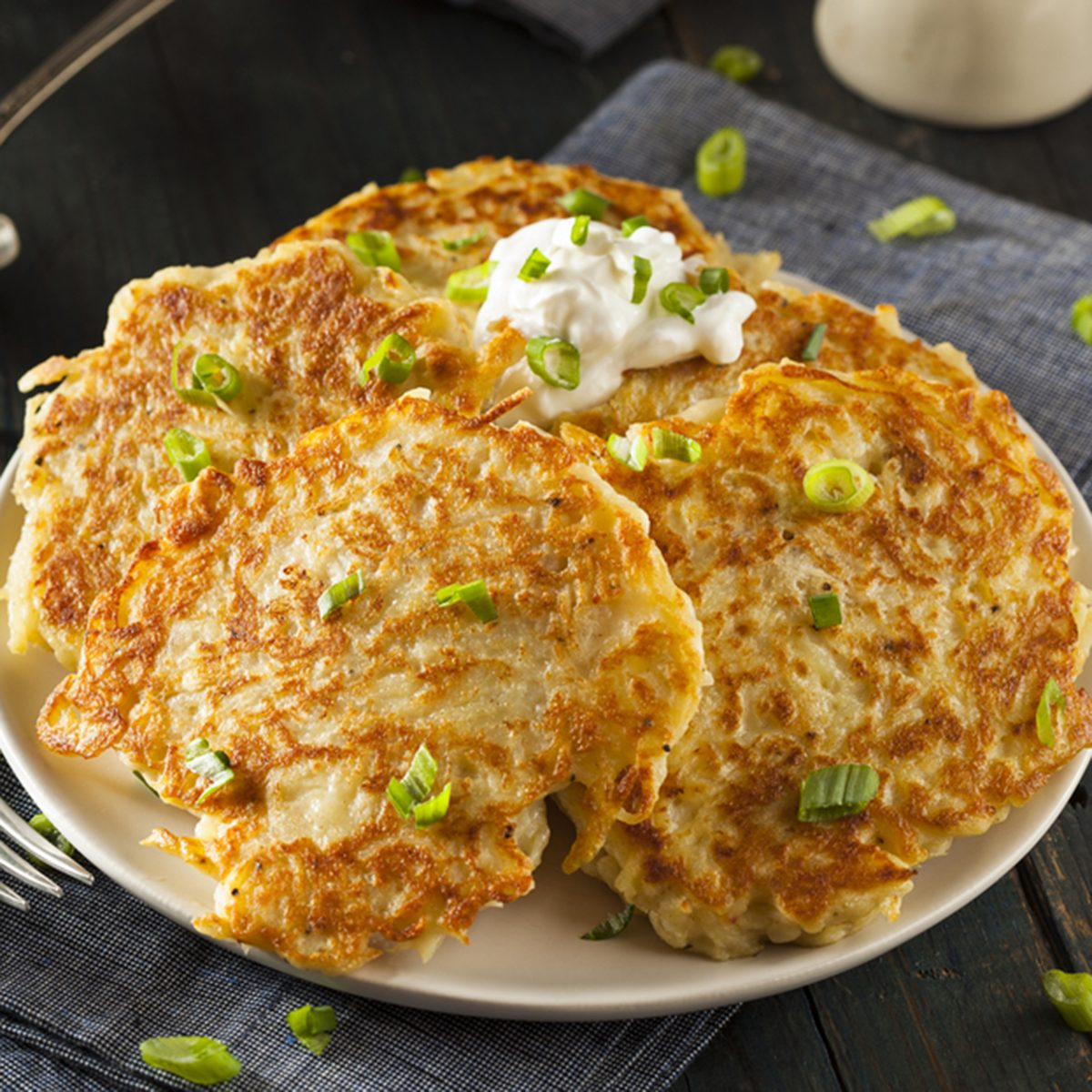 Homemade Boxty Irish Potato Pancakes for Breakfast; Shutterstock ID 251283436