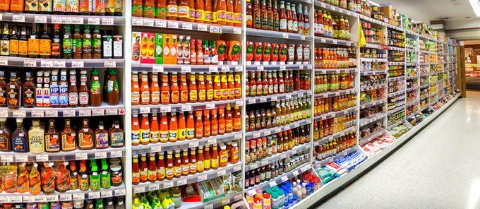 Foodland Supermarket in Victoria Gardens stocks various bottles of sauces