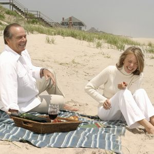 No Merchandising. Editorial Use Only. No Book Cover Usage. Mandatory Credit: Photo by Bob Marshak/Columbia/Tri-Star/Kobal/REX/Shutterstock (5883523u) Jack Nicholson, Diane Keaton Something's Gotta Give - 2003 Director: Nancy Meyers Columbia/Tri-Star USA Scene Still Comedy Tout peut arriver