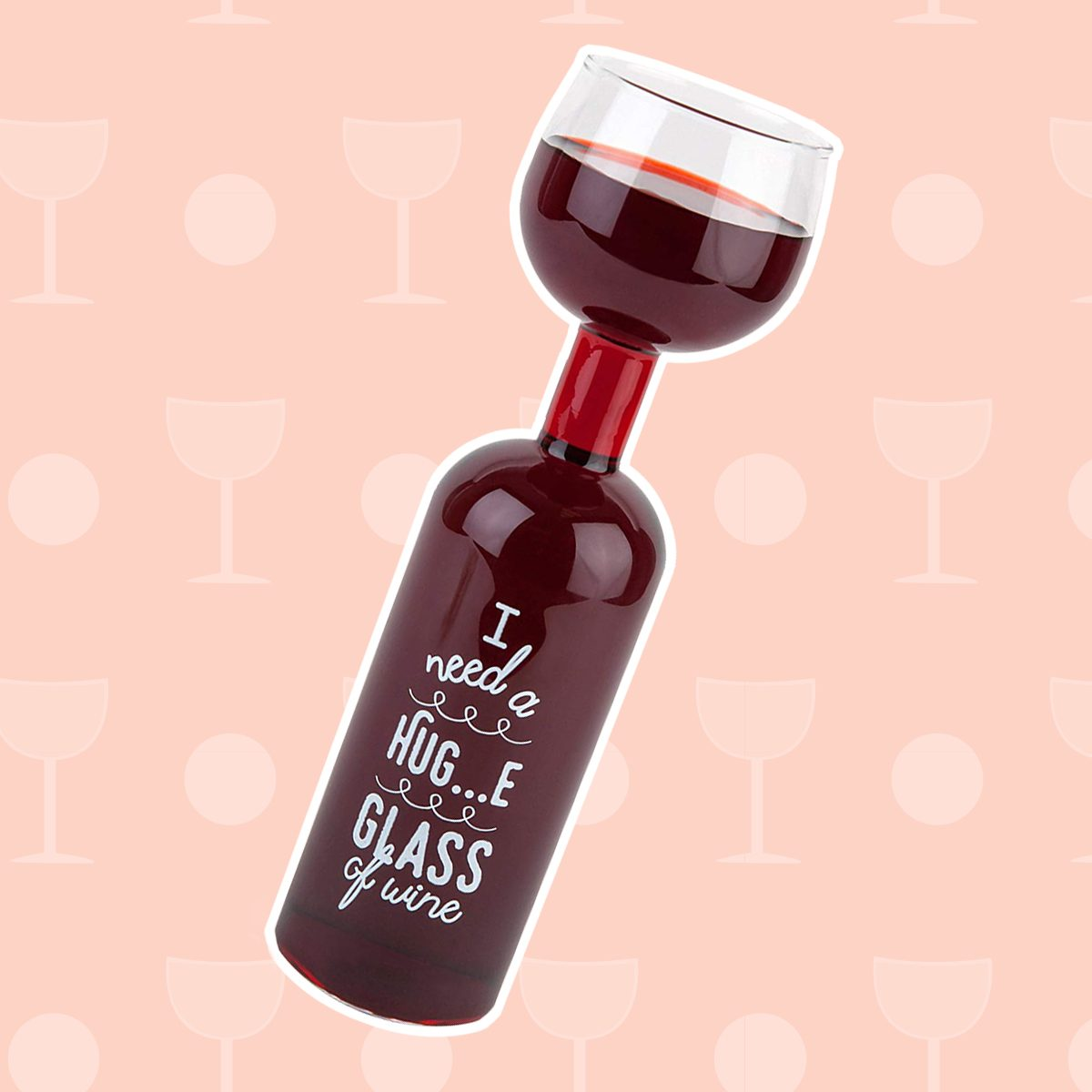 wine gifts, BigMouth Inc Ultimate Wine Bottle Glass