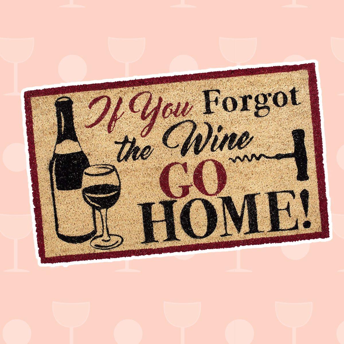 wine gifts, DII DM Forgot The Wine Doormat