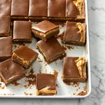 Layered Chocolate Marshmallow Peanut Butter Brownies