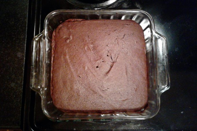 Finished Sans Sucre Brownies